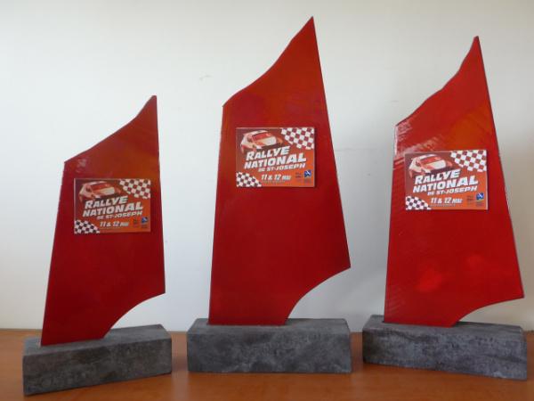 Trophées rouge passion pour le rallye auto de Saint-Joseph