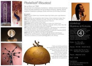 Workshop Matières et écritures avec l'artiste Abdellatif Moustad
